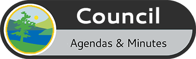 Icon that displays the words Council Agendas and Minutes
