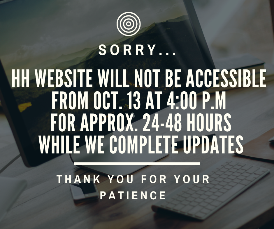 Hastings Highlands website will not be accessible from Oct.13 at 4:00 p.m.